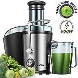 Entsafter Gemüse und Obst, AICOK 75MM Einfüllöffnung 800W Zentrifugal Entsafter, mit Anti-Tropf-Funktion und Überhitzungsschutz inkl, Geräuschloser Motor, BPA-Frei, Rutschfeste Füße
