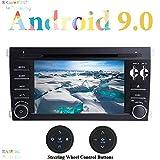 XISEDO 7 Pulgadas Android 9.0 Autoradio 8-Core RAM 4G ROM 32G In Dash Radio de Coche con Reproductor de DVD para Porsche Cayenne (2003-2010) (con Botones de Control del Volante)