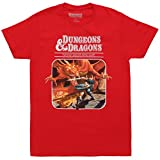 Dungeons & Dragons Fantasy Roleplaying Game Adult T-Shirt - Red (Small)