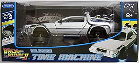 Welly 1/24 Scale Diecast Metal Delorean Time Machine Back to The Future Part II MJ22499