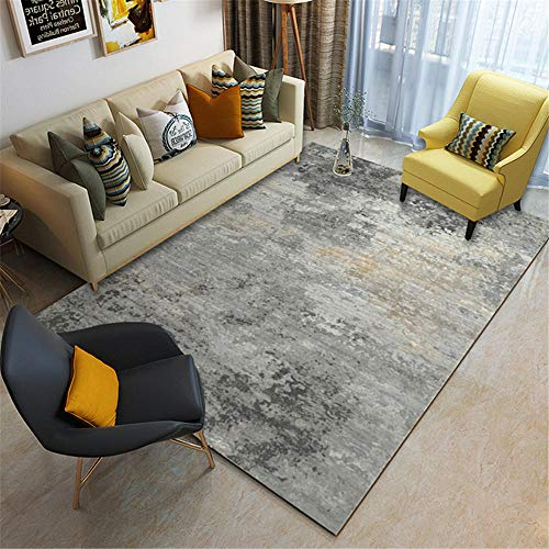 Kunsen habitacion niña alfombras para terrazas Alfombra Rectangular Gris Sala de Estar decoración Anti-Diapositiva Alfombra Silla Oficina 140X200CM 4ft 7.1' X6ft 6.7'