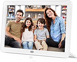 IEBRT Digital Photo Frame, 8-Inch High-Definition Digital Picture Frame 1920x1080 IPS Screen Brightness Adjustable Photo Deletion Automatic Rotation Motion Sensor 16:9 Widescreen