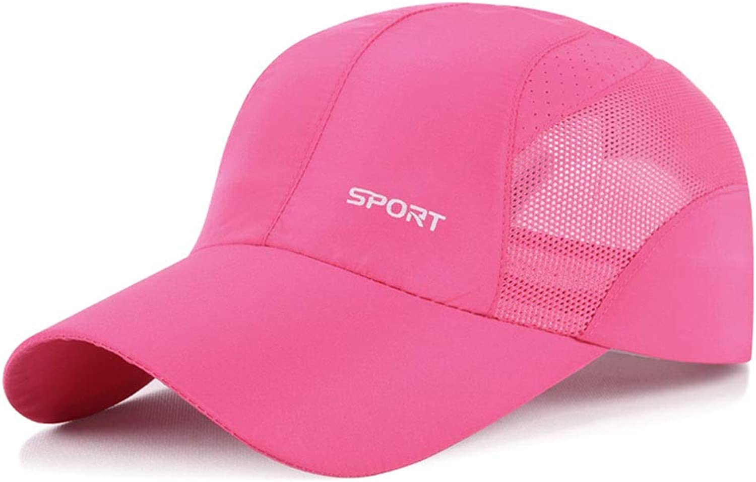 Sun Hat Summer Men and Women Outdoor Leisure Sports Baseball Cap QuickDrying Breathable Mesh Cap Sunscreen Visor Cap 5459cm UPF 40+ ZHAOSHUNLI (color   Pink)