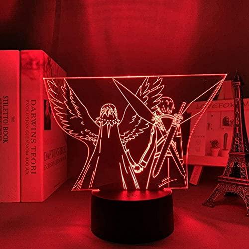 3D LED noche luz anime resplandor luces Sasuke Uchiha cara diseño niño LED USB batería para decoración del hogar lámpara Naruto regalo Touch Control lámpara 7 colores