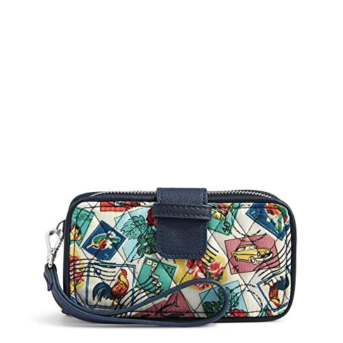 Vera Bradley Signature Cotton Smartphone Wristlet with RFID Protection, Cuban Stamps