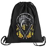 T-Shirt People Scorpion Kombat – Sac de Sport imprimé – Un Joli Sac de Sport avec Cordons Taille Unique Noir