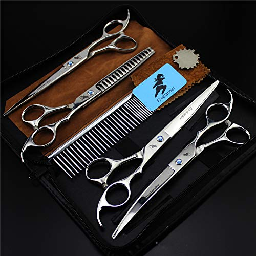 7 Inch Pet Grooming Scissors Kit, Heavy Duty Stainless Steel, Best Pet Grooming Shears Full Body Scissor for Haircuts at Home