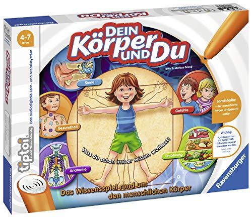 Ravensburger tiptoi Dein Körper und Du Spiel, ab 4 Jahren, Das Wissensspiel rund um den menschlichen Körper