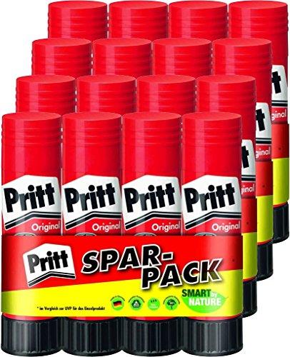 Colla stick Pritt 22 g, 4 confezioni risparmio da 4, totale 16 pezzi