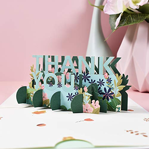 Thank You Pop Up Cards For All Occasions, Uactor 3D Popup Greeting Cards, Birthday, Wedding, Anniversary, Mother's Day, Thank You, Loved Ones, Congratulations