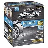 Rust-Oleum 299743 Rocksolid Metallic Garage Floor Coating, Gunmetal