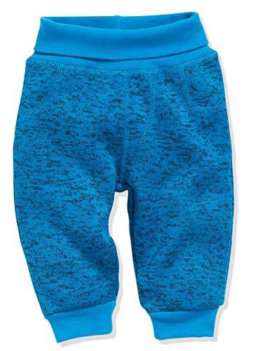 Schnizler Baby-Unisex Pumphose Strickfleece mit Strickbund Jogginghose, Blau (Blau 7), 80