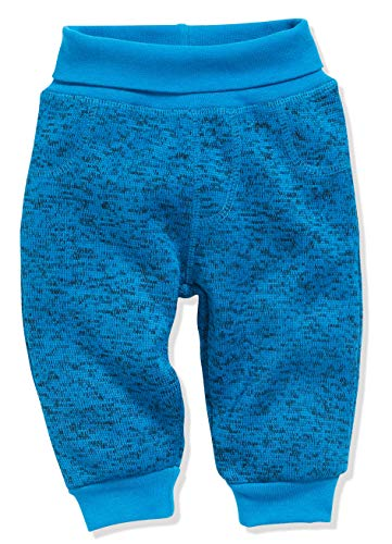 Schnizler Baby-Unisex Pumphose Strickfleece mit Strickbund Jogginghose, Blau (Blau 7), 86