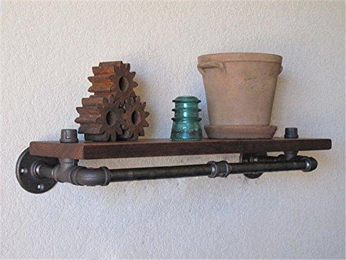 Iron Retro Industrial style water pipe clapboard shelf Retro bookshelf Personalized Creative bookshelf, Mocha copper