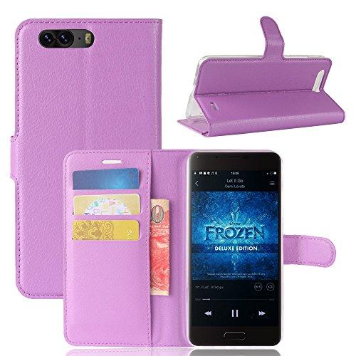Litao-Case CN Hülle für Blackview P6 hülle Flip Leder + TPU Silikon Fixierh Schutzhülle Case 2