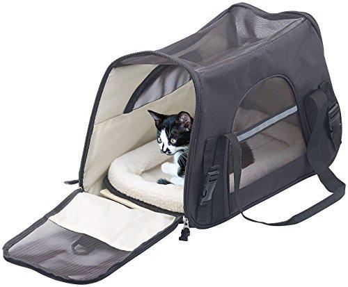 Sweetypet Hundetasche: Hand- & Auto-Transporttasche für Haustiere bis 8 kg, Größe M, schwarz (Transporttasche Katze)