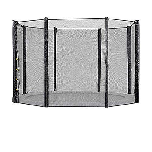 Blümme Trampoline Replacement Safety Net Enclosure Surround for Outdoor 13FT Trampolines with 8 Poles Black (Net Only)