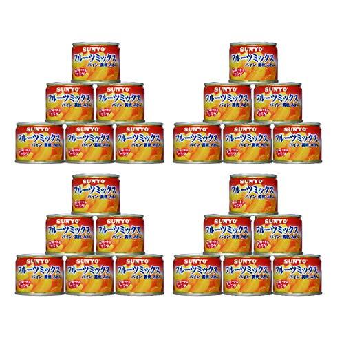 【24缶セット】サンヨー堂 フルーツ缶詰 フルーツミックス 130g (賞味期限 製造日より3年)EO8号 長期保存ができる携帯食品缶詰