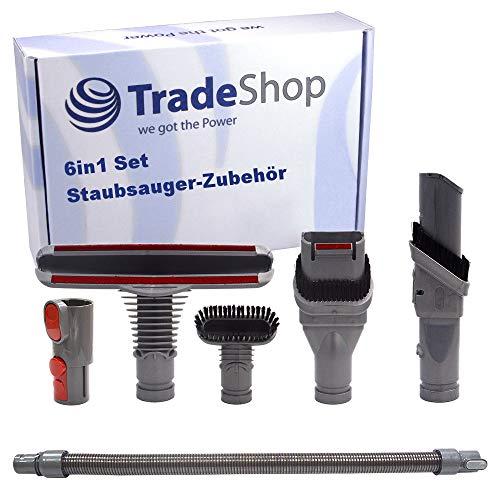 Trade-Shop Juego de accesorios para aspiradora 6 en 1 para Dyson DC33 DC33c DC34 DC35 DC36 DC37 DC37c DC38 DC40 DC41 DC44 DC50 DC52 DC55 DC58 DC59 DC62 y muchos más