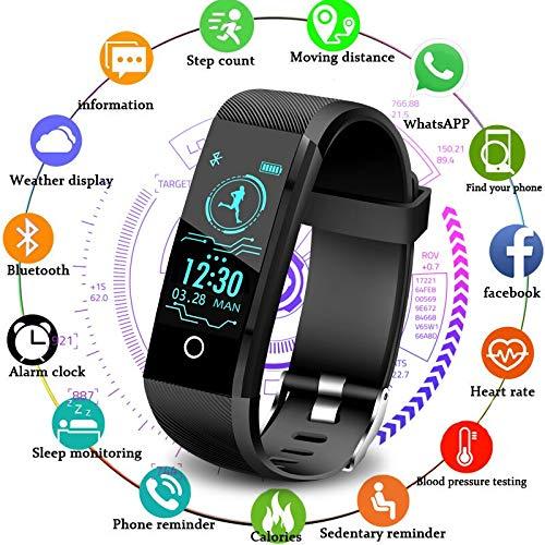 UNIQUS LIGE Color screen Fitness bracelet smart watch men women Activity tracker For iPhone Heart rate sleep monitor info bt smartwatch