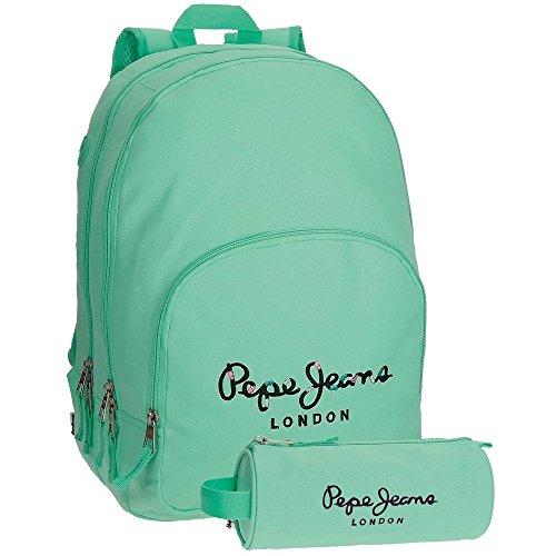 Pepe Jeans 66824A8 Harlow Mochila Escolar, 42 cm, 19.44 litros, Azul