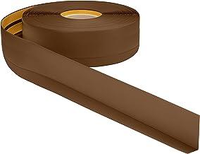 ProfiPVC Flexibele PVC plint 50x20mm - 1 meter, zelfklevend, zachte, gemakkelijk te monteren, Bruin