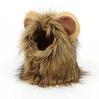 Nishoreペットライオン衣装 ペットライオン髪のかつら ハロウィーン クリスマスパーティー ギフト ペット用コスプレキャップ かつら 可愛い 猫犬用