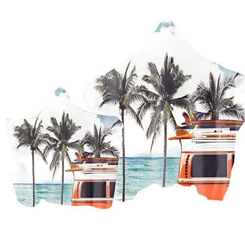 Toalla de Playa con Capucha 3D Día de Verano Playa Paisaje...