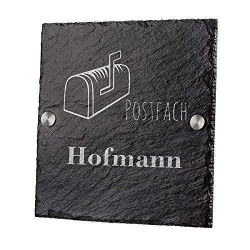 Ardoise plaque de porte Ardoise Gravure motif lettres