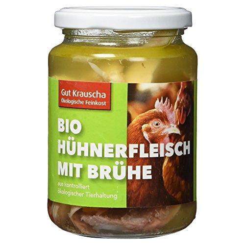 Gut Krauscha Bio Hühnerfleisch mit Brühe, 320 g