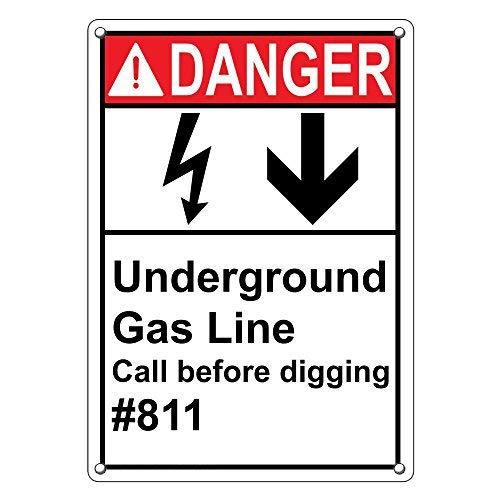 Vertikale ANSI Danger Underground
