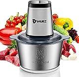 Food Processor,IMURZ Mini Food Chopper Electric, Meat grinder Blender(Table Blender) , Stainless Steel Mincer 500W Kitchen ,For Vegetable, Fruit, Onion, Garlic -2L