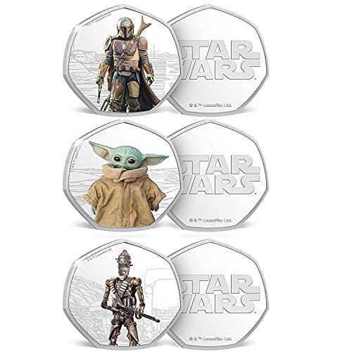 IMPACTO COLECCIONABLES Star Wars Münzen: The Mandalorian - Complete Collection 3 Gedenkmünzen/Medaillen. Limitierte Auflage