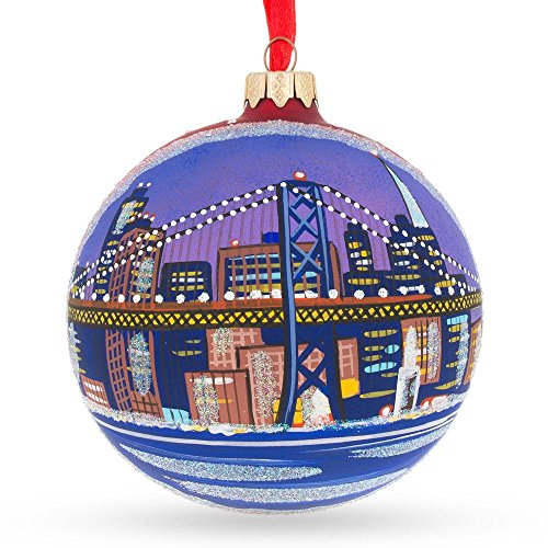 Portland, Oregon Glass Ball Christmas Ornament