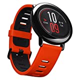 Xiaomi Huami Amazfit UYG4012RT, Smartwatch per fitness, con cardiofrequenzimetro, Bluetooth 4.0 per iPhone iOS e Android, Rosso