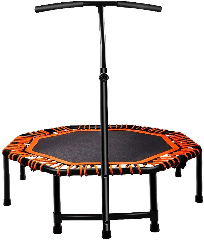 GHHZZQ Trampolin Mit Haltegriff Hhenverstellbarer Jumping Fitness Gewichtsverlust Leise Für Fitness-Training (Farbe   Orange, Größe   117cm)