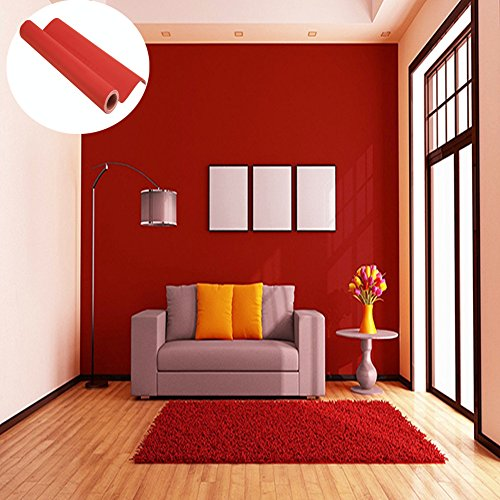 WTD - Papel pintado autoadhesivo para pared, diseño de muebles, rojo