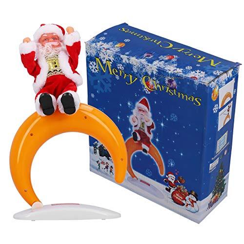 FEBT Papá Noel Bailando, Peso Ligero Duradero, Vida útil Prolongada y cómoda, Color Elegante y Hermoso, muñeco de Papá Noel navideño, para Regalos de niños(Half Moon Santa)