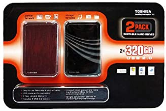 Toshiba 2 Pack 320 GB Portable Hard Drives