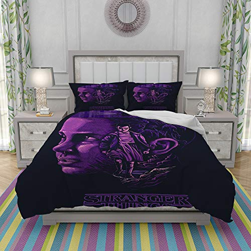 FYCORDB Duvet Cover Set-Bedding,Stranger things,Sheets & 2 Pillowcases,for Single Double King Bed/Made of Ultra-Soft Microfiber