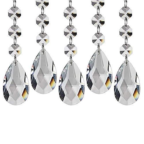 LPxdywlk 5 Stücke DIY Handgemachte Kristall Ornamente Wassertropfen Mesh Perlen Vorhang Anhänger Türen Und Fenster Hochzeitsfeier Weihnachtsdekoration 5St