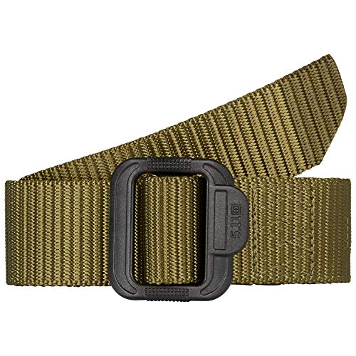 5.11 Tactical Men's 1.5-Inch Convertible TDU Belt, Nylon Webbing, Fade-and Fray-Resistant, TDU Green, M, Style 59551