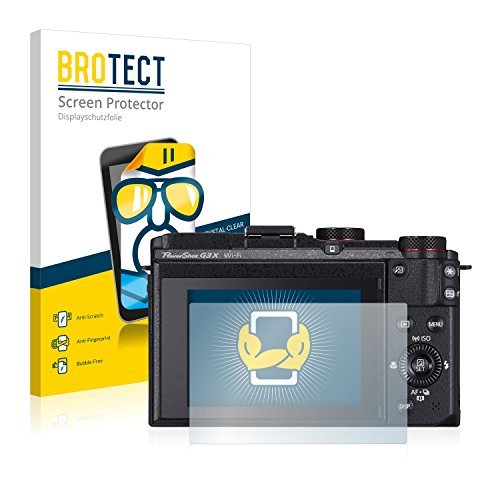 BROTECT Schutzfolie kompatibel mit Canon PowerShot G3 X (2 Stück) klare Bildschirmschutz-Folie