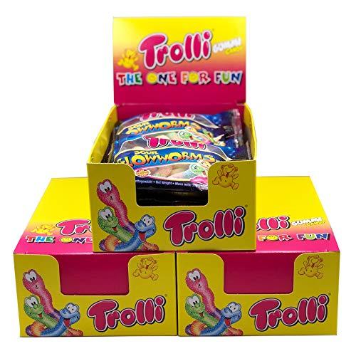 Trolli Glühwürmchen Fruchtgummi Sauer im Verkaufskarton - Ideal als Mitgebsel (1)