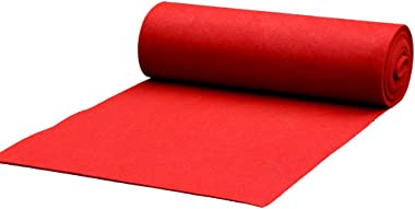 YYQIANG Wedding Carpet Runners Rugs Wedding Aisle Runner Polypropylene Red Aisle Area Carpets Hotels Stairs Sound Absorption
