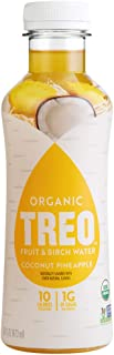 Treo Fruit & Birch Water Drink, Coconut Pineapple, USDA Organic, Non-GMO Project Verified, Vegan, Gluten-Free, 10 Calories...