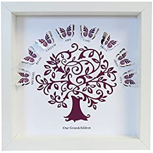 Customer reviews Personalised Our Grandchildren Butterfly Tree Paper Cut Box Frame