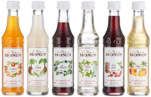 MONIN Mini Cocktail, 1er Pack, Miniflaschen mit Rezeptheft, 6x 50 ml