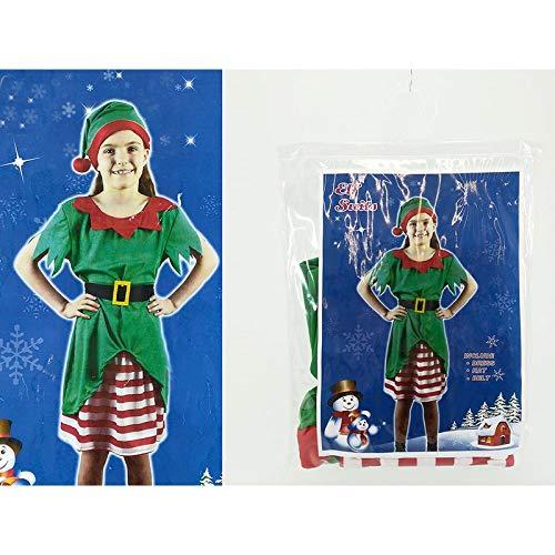 General Trade Natale Vestito Elfo Bambino 8-10 Anni