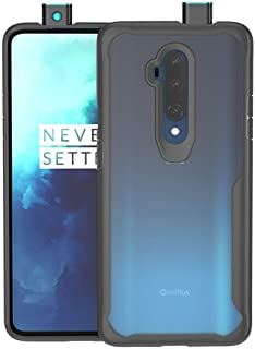 For Oneplus 7t Pro Mobile Phone Case Transparent Silicone All-Inclusive Drop Protection Cover-Black